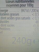 We bio - Informations nutritionnelles - fr