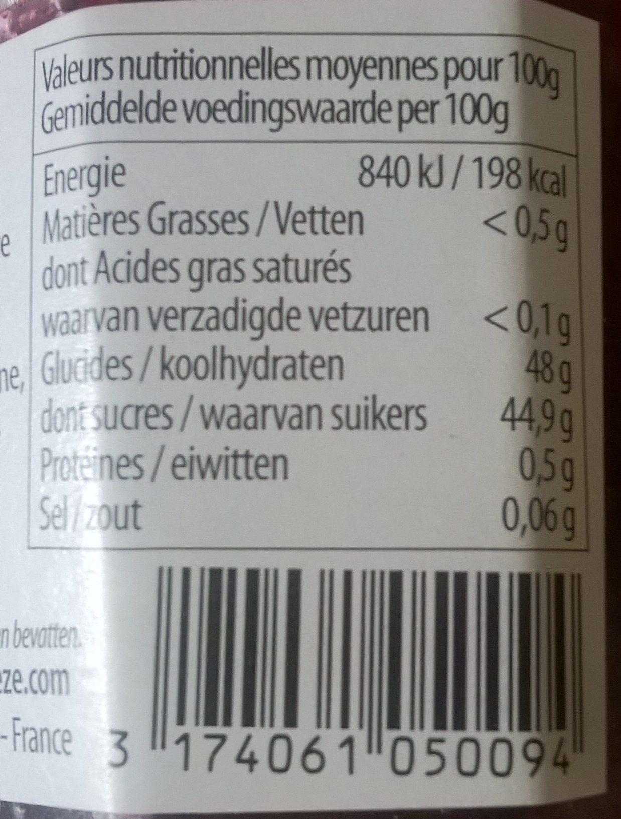 Cerise - Informations nutritionnelles - fr