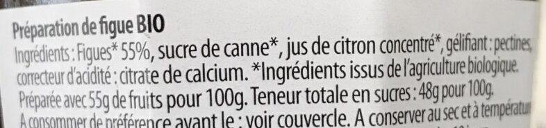 Confiture de figue - Ingredients