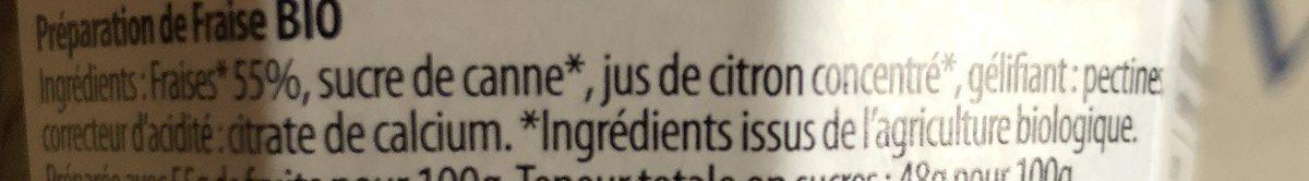 Fraise - Ingrédients - fr