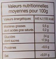 Compote De Pommes Valade 850 Gr, 3 Boîtes - Informations nutritionnelles
