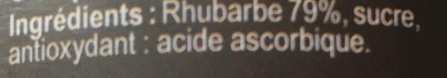 Compote de rhubarbe - Ingrédients