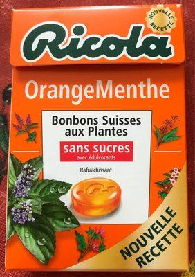 Bonbons orange/menthe ss RICOLA 50g offre economique 50ans - Produit