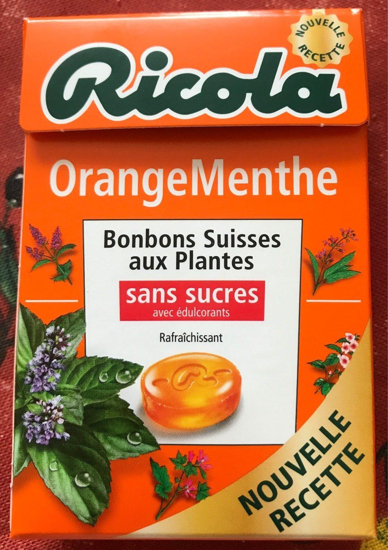 Bonbons orange/menthe ss RICOLA 50g offre economique 50ans - Produit - fr