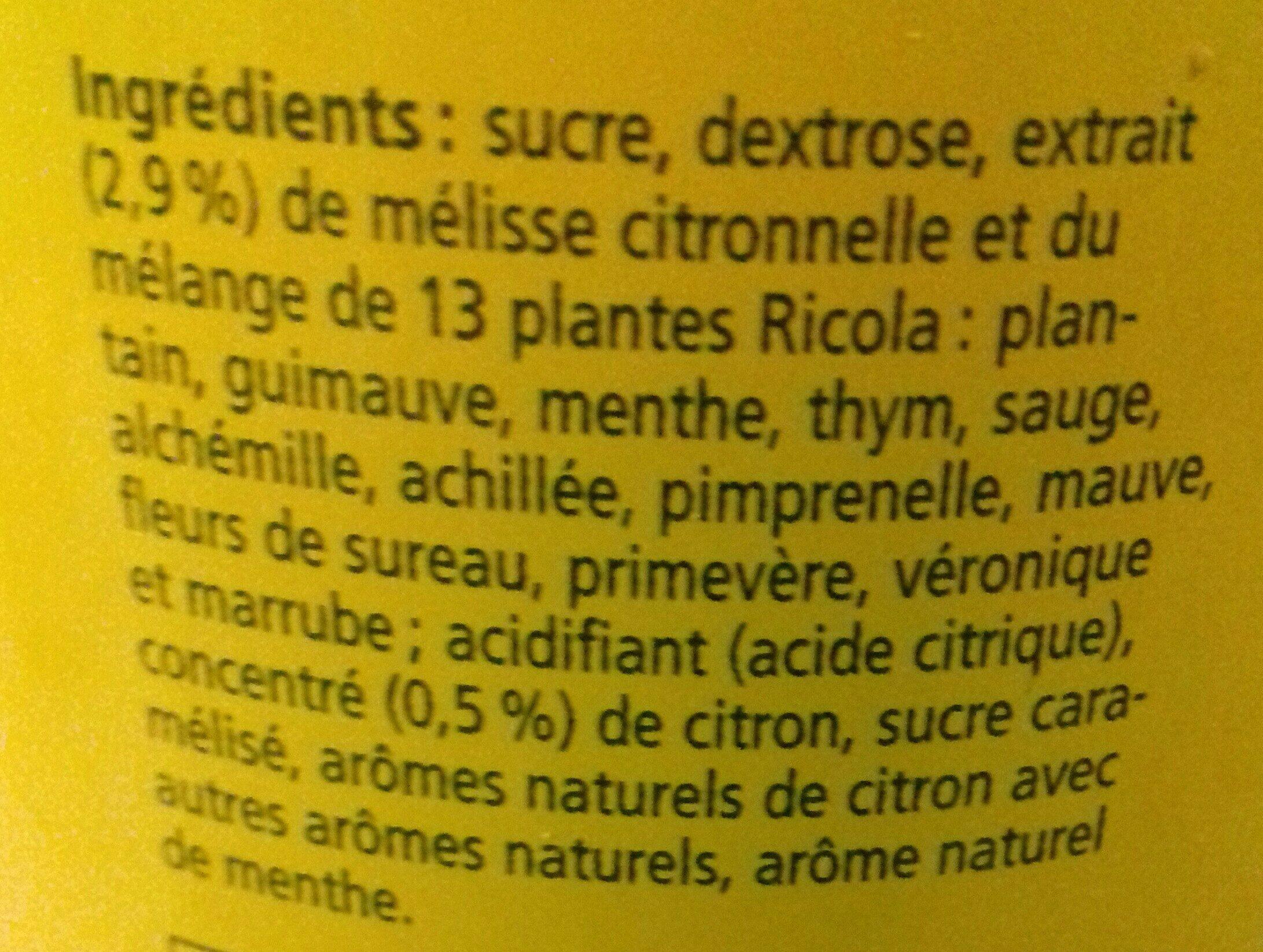 Infuselle citron et plantes - Ingrediënten