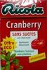 Cranberry sans sucres avec édulcolorant - Produit