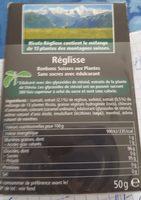 Ricola 50g s/s réglisse new offre éco - Ingredients
