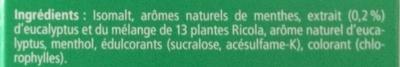 Eucalyptus - Ingredients