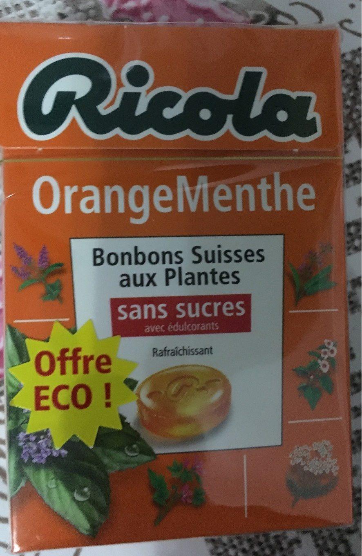 Bonbons ricola orange menthe - Produit - fr
