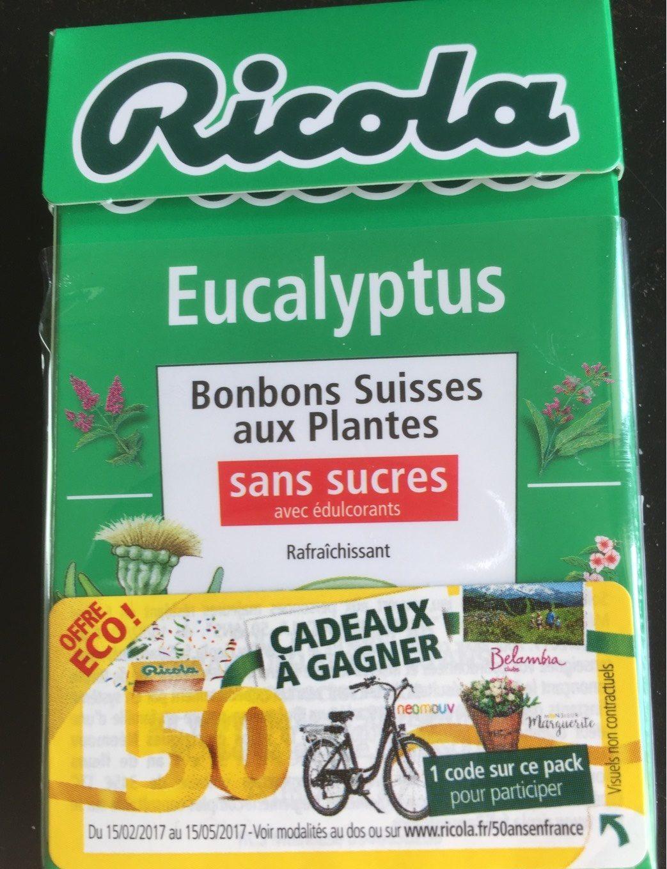 Ricola eucalyptus sans sucres 50g offre éco 50 ans - Product - fr