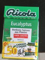 Ricola eucalyptus sans sucres 50g offre éco 50 ans - Ingredients - fr