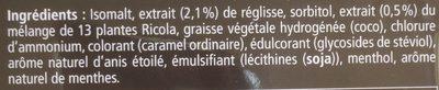 Ricola Réglisse - Ingrédients