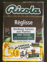 Ricola Réglisse - Informations nutritionnelles