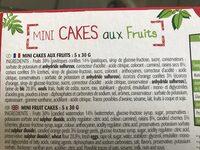 Mini cakes aux fruits - Ingrediënten - en