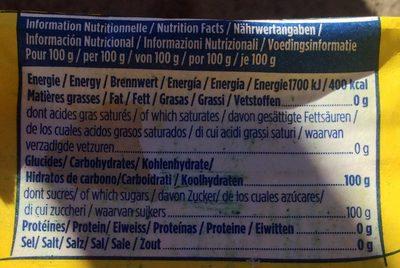 Sucre cristal - Nutrition facts - fr