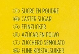 Sucre poudre - Ingredients - fr