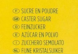 Sucre poudre - Ingrédients - fr