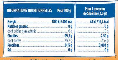 Séréline morceaux blancs - Informations nutritionnelles - fr