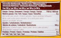 Blonvilliers poudre bec verseur - Voedigswaarden