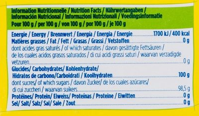 Extra fin Béghin-Say® - Informations nutritionnelles - fr