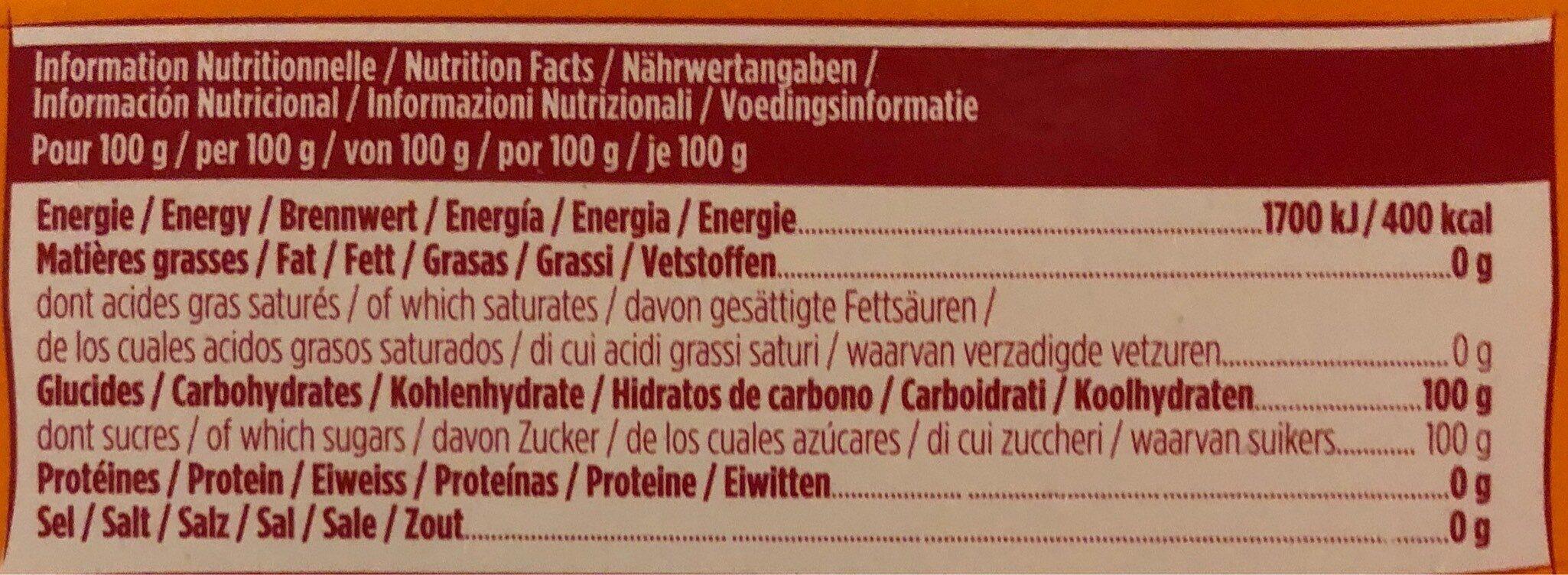 La Perruche morceaux irréguliers - Informations nutritionnelles - fr