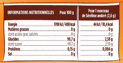 Ligne ambré - Informations nutritionnelles - fr