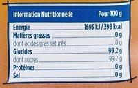 Spécial confitures - Informations nutritionnelles - fr