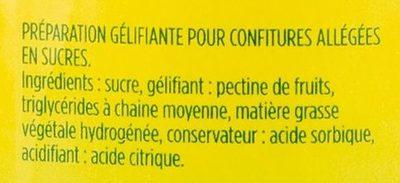 500G Gelsuc Allege Beghin Say - Ingredients - fr