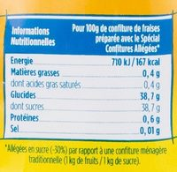 500G Gelsuc Allege Beghin Say - Nutrition facts - fr