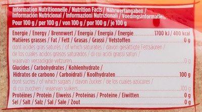 La Perruche Cassonade - Informations nutritionnelles - fr