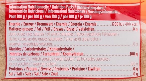 La Perruche Cassonade - Nutrition facts - fr