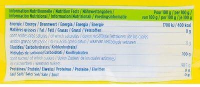 Sucre à la Vanille - Informazioni nutrizionali - fr