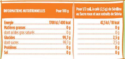 Ligne sucre roux et Stevia - Informations nutritionnelles - fr