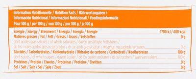 La Perruche Pure Canne Mini - Informations nutritionnelles