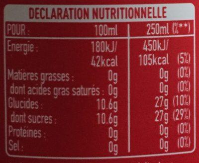 Boisson rafraîchissante aux extraits végétaux - Valori nutrizionali - fr