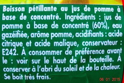 Brut de pomme - fines bulles - Ingrédients - fr