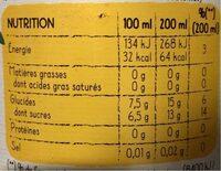 Brut de pomme - fines bulles - Informations nutritionnelles - fr