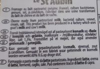 Le st-aubin - Ingrédients - fr