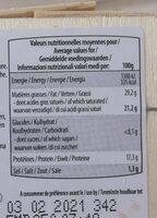 Le st-aubin - Informations nutritionnelles - fr