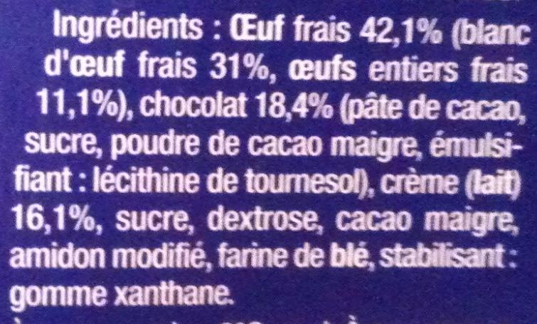 Le Moelleux au Chocolat - Ingrediënten