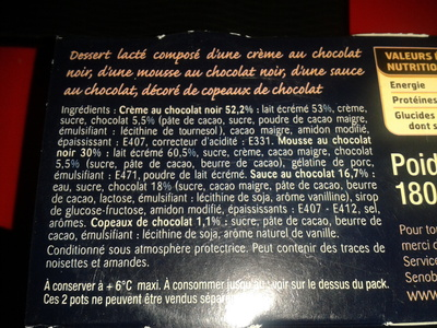 Les Créations Plaisir - Tout Chocolat - Ingrediënten - fr