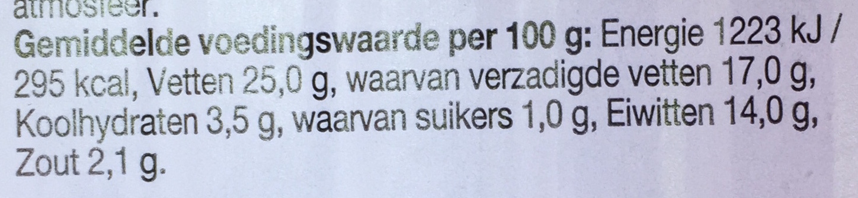 Romige mix van kaas en walnoten - Nutrition facts - nl