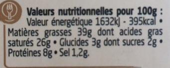 Ail & Fines Herbes - Informations nutritionnelles - fr