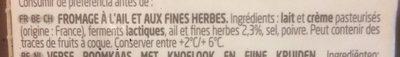 Garlic & Herbs - Ingrediënten - fr