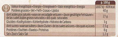 Boursin Poivre Noir - Informations nutritionnelles