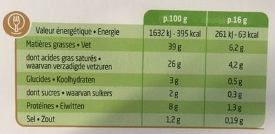 Ail & Fines Herbes, 10 portions (41 % MG) - Voedingswaarden - fr