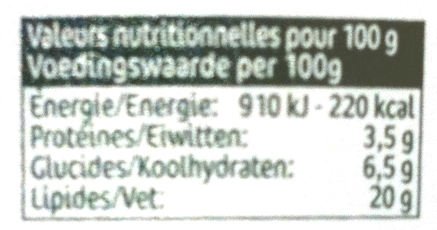 Cuisine Ail & Fines Herbes (20 % MG) - Nutrition facts - fr