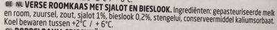 Fromage à l'échalote et à la ciboulette - Ingrediënten - nl