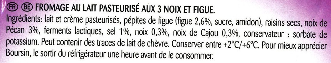Figue & 3 Noix (40 % MG) - Ingredients - fr