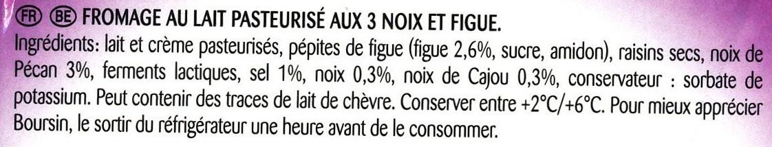 Figue & 3 Noix (40 % MG) - Ingrédients - fr